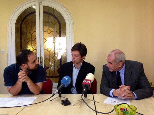 Fabián Mohedano, Pere Almeda y E. Maragall