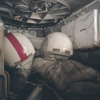 Polvo lunar en los trajes de los astronautas del Apolo 17