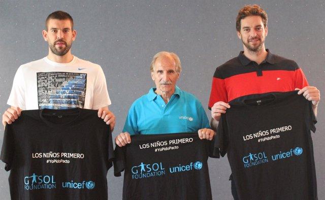 Pau Marc Gasol Fundación Los niños primero UNICEF