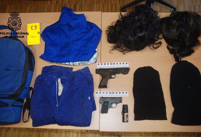 Detenidos por tráfico de drogas, receptación y tenencia de armas