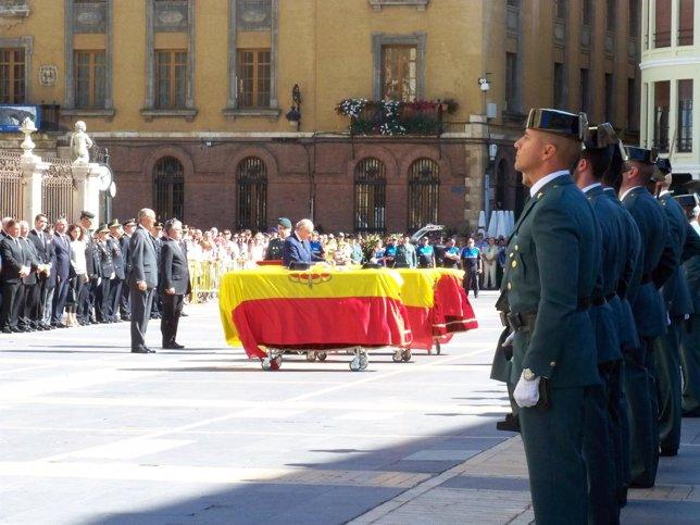 Funeral por los guardias civiles fallecidos en Maraña (León)