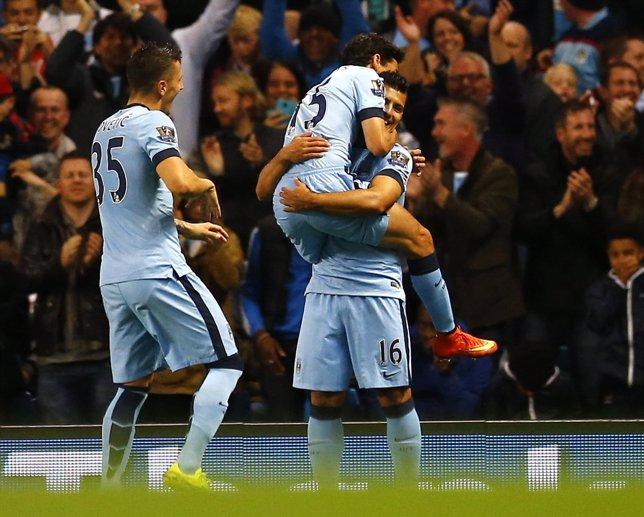 Manchester City Aguero Navas Jovetic Liverpool