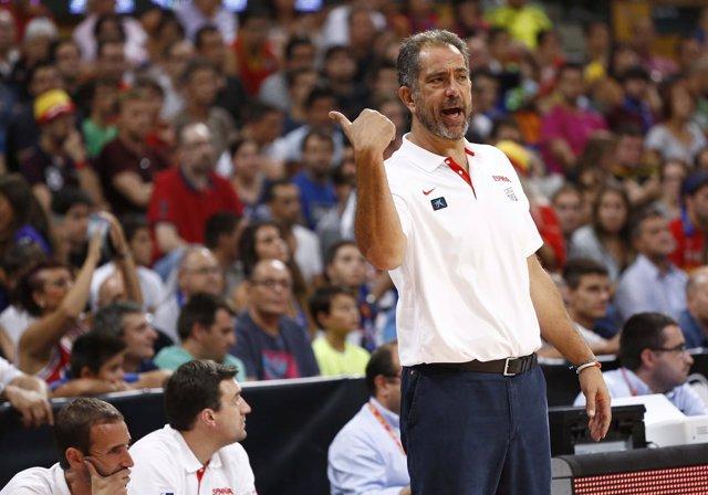El seleccionador español, Juan Antonio Orenga