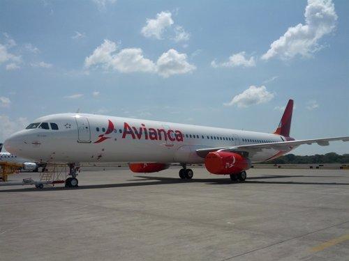 Avión de la aerolínea Avianca