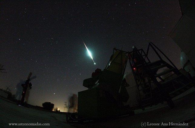 Meteoprito en Toledo abril 2013