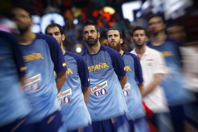 Juan Carlos Navarro con la selección española de baloncesto