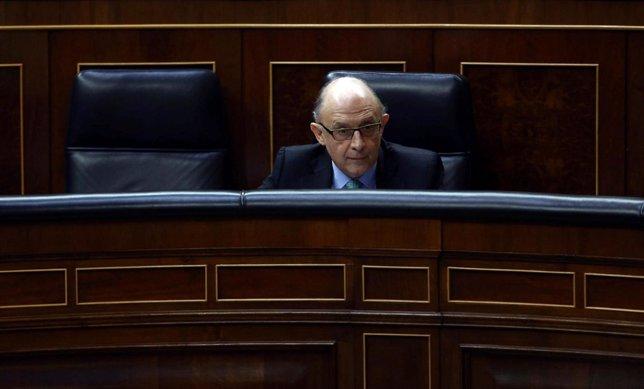 Cristóbal Montoro, en el Congreso