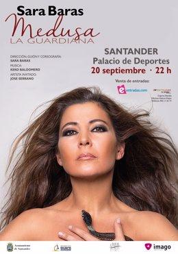 Cartel del espectáculo de Sara Baras en Santander