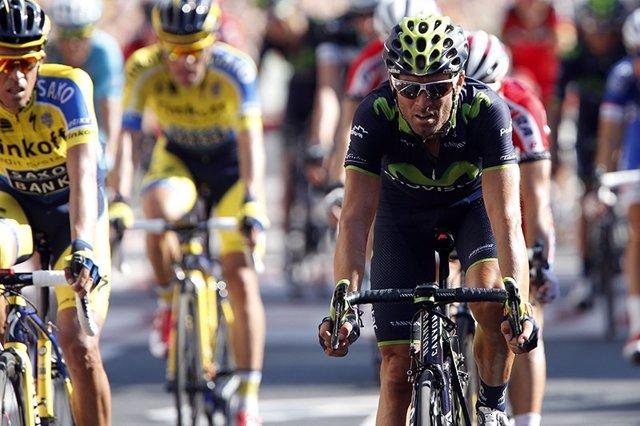 El ciclista español del Movistar Alejandro Valverde