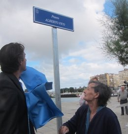 Inauguración del paseo Alberto Pico
