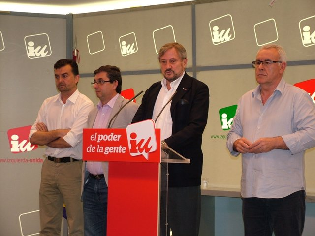 Willy Meyer, Cayo Lara, José Luis Centella y Antonio Maíllo