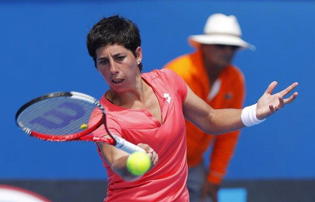 Carla Suarez en el Open de Australia 2013