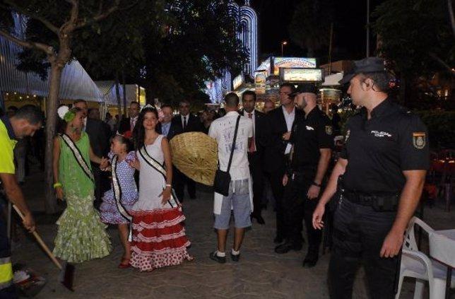 Dispositivo policial en la Feria de Almería