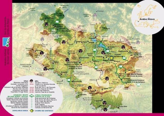 Desplegables de la Red de Itinerarios Verdes de Álava