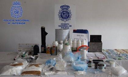 Desmantelan en Murcia un completo laboratorio de transformación de cocaína