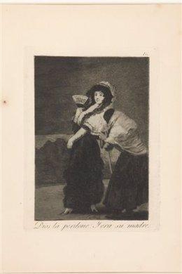 Un grabado de la seria 'Capricho' de Goya