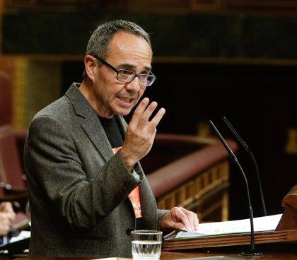 """Economía.- Coscubiela (ICV) pide a Guindos que se ponga """"al servicio de las familias desahuciadas"""" y no al del mercado"""