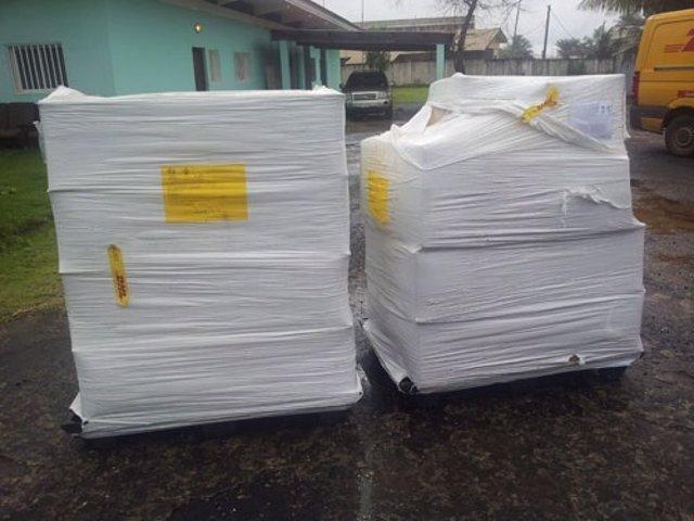 Llegada de material sanitario a Monrovia