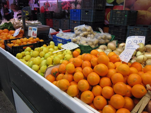 Navidad. IPC. Consumo. Cítricos. Huerta. Naranja. Limón. Mandarina. Mercado