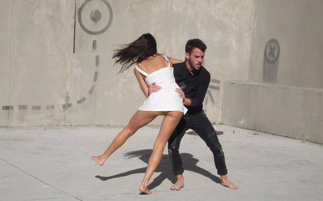 Muestra de danza contemporánea en la presentación de 'GXF Santander'