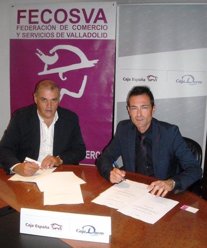 Caja España-Duero y Fecosva renuevan el convenio que facilita crédito a casi un millar de comerciantes de Valladolid