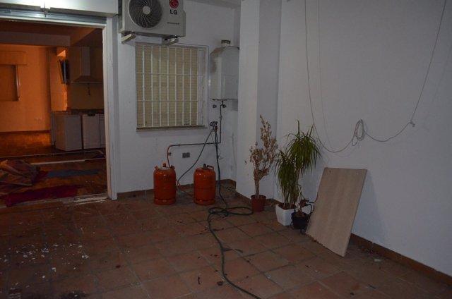 Vivienda de Alcalá de donde se intentó explosionar un edificio