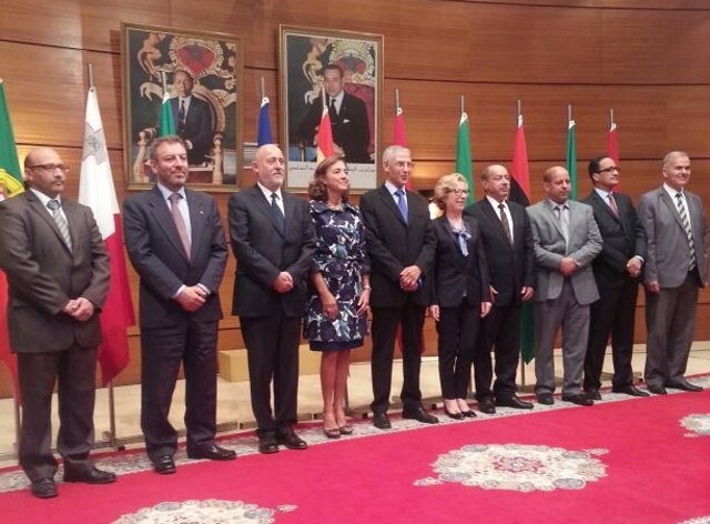 Dirigentes reunidos en la cumbre DIálogo 5+5 en Rabat