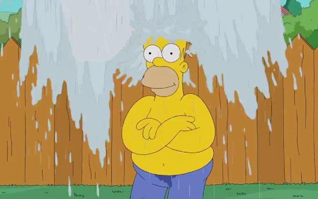 Homer Simpson y su Ice Bucket Challenge