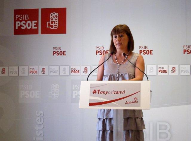 Francina Armengol en rueda de prensa