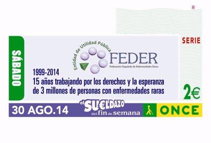 La ONCE dedica su cupón de este sábado a la labor de la Federación Española de Enfermedades Raras