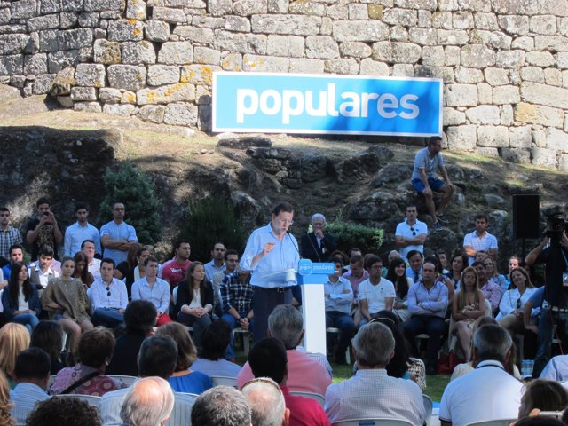 Rajoy en Soutomaior (Pontevedra)