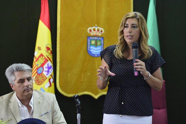 Susana Díaz, hoy en Terque (Almería)