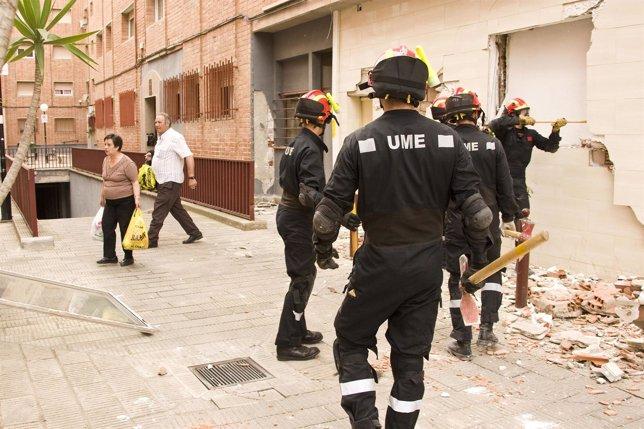 Militares De La UME En Lorca Tras Los Terremotos
