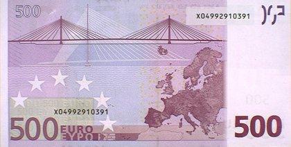 Los billetes de 500 euros bajan en julio hasta los 76 millones