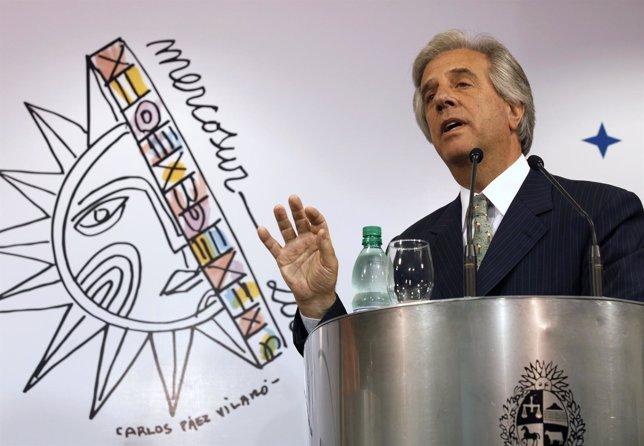 El Ex Presidente De Uruguay Tabaré Vázquez