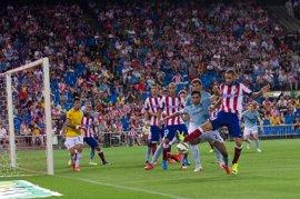 El Atlético, a ritmo de balón parado