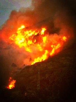 Incendio de Barx (Valencia)