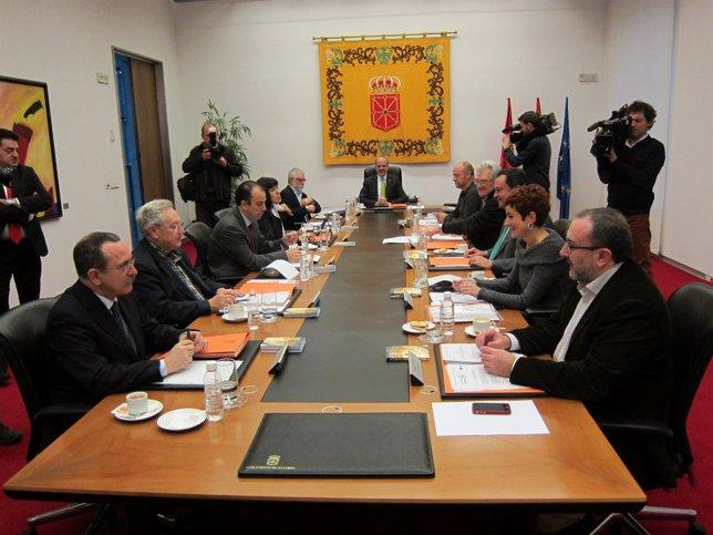 Sesión de la Mesa y Junta de Portavoces del Parlamento de Navarra