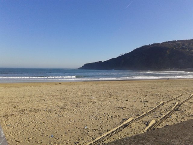 Playa de la Zurriola de San Sebastián