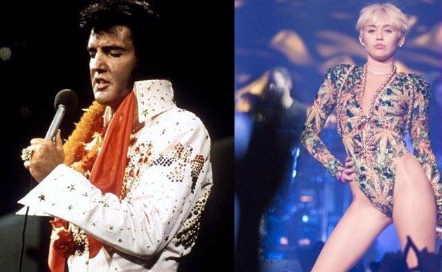 Elvis y Miley Cyrus