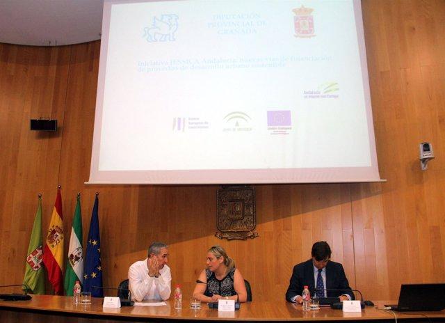 Presentación del proyecto 'Jessica' en la Diputación de Granada