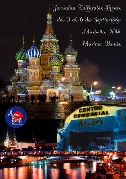 Cartel de las Jornadas Culturales Rusas 2014, en Marbella