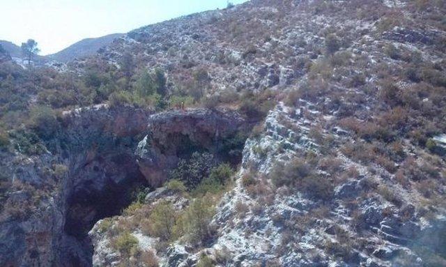 Lugar en el que el barranquista ha sufrido el accidente