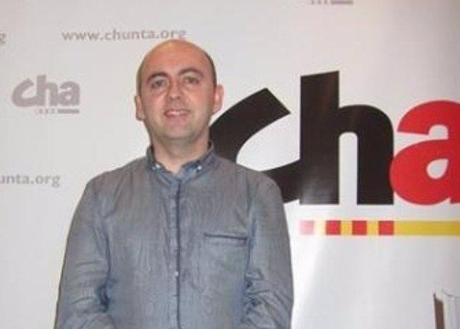 El alcalde de Longares, Miguel Jaime Angós (CHA)