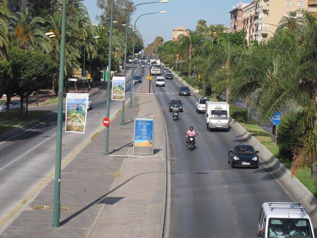 Avenida Andalucía, Málaga, Centro, Vía, Carretera, Calle, Circulación, Coches