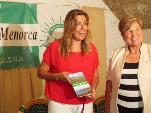La presidenta de la Junta, Susana Díaz, en Mahón (Menorca)