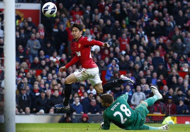 Kagawa marca con el Manchester United