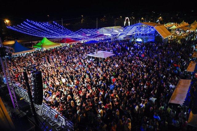 Vista aérea del recinto durante el concierto de David Barrull