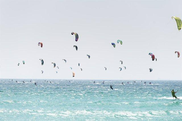 Récord Guinness en Tarifa 2014 Pro Kite Tour