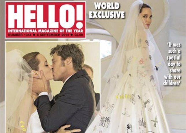 Angelina Jolie y Brad Pitt en Hello! exclusiva mundial boda sí quiero